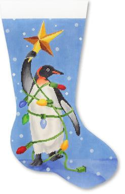 Penguin w/ Star stocking