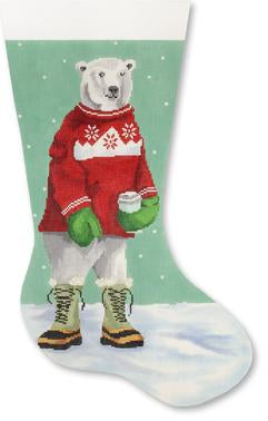 Polar Bear w/ Red Sweater stocking