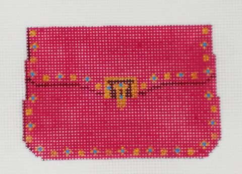 Hot Pink w/ Turquoise Stones Mini Purse Ornament