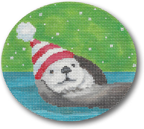 Otters Christmas ornament
