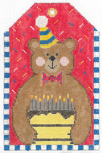 XO-197L - GIFT TAG :  BIRTHDAY BEAR
