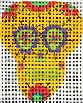 Sugar Skull III Yellow