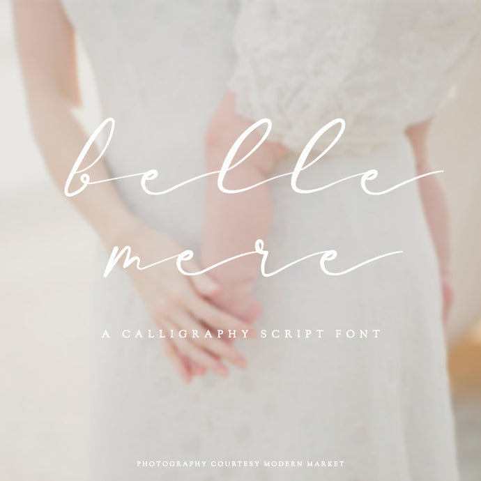 Original Belle Mere Script Font - Personal & Commercial License