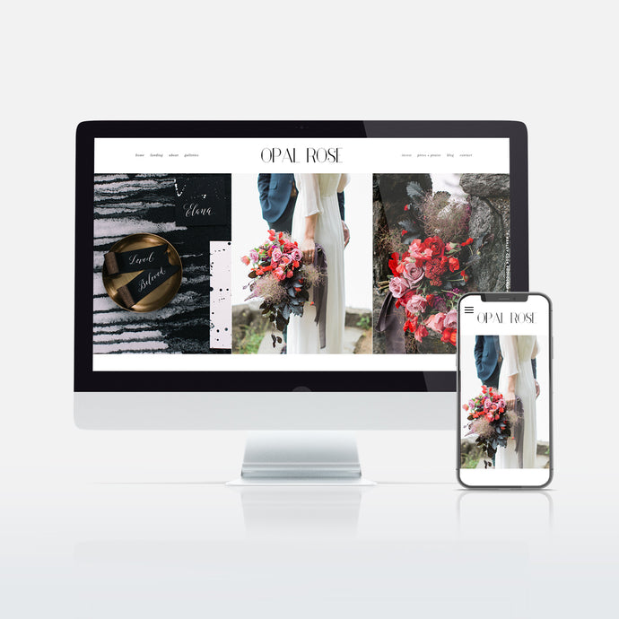 Opal Rose Website Template