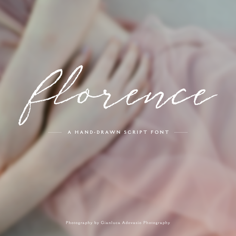 Florence Script Font - Personal & Commercial License