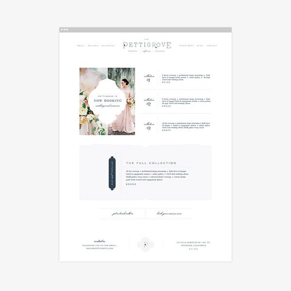 Pettigrove Squarespace Template & Expert Install