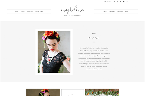 Magdalena ProPhoto 7 Template