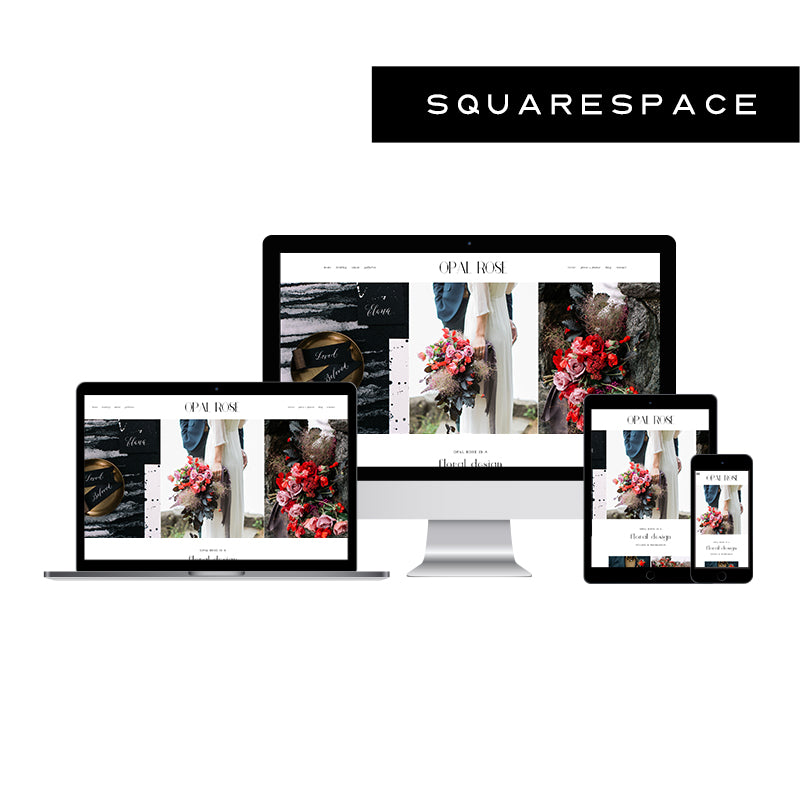 Opal Rose Squarespace Template