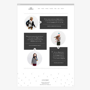 Little Forest Squarespace Template