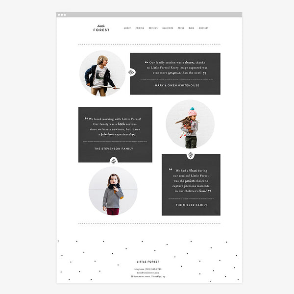 Little Forest Squarespace Template & Expert Install