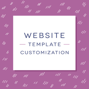 Website Template Customization - With Discount