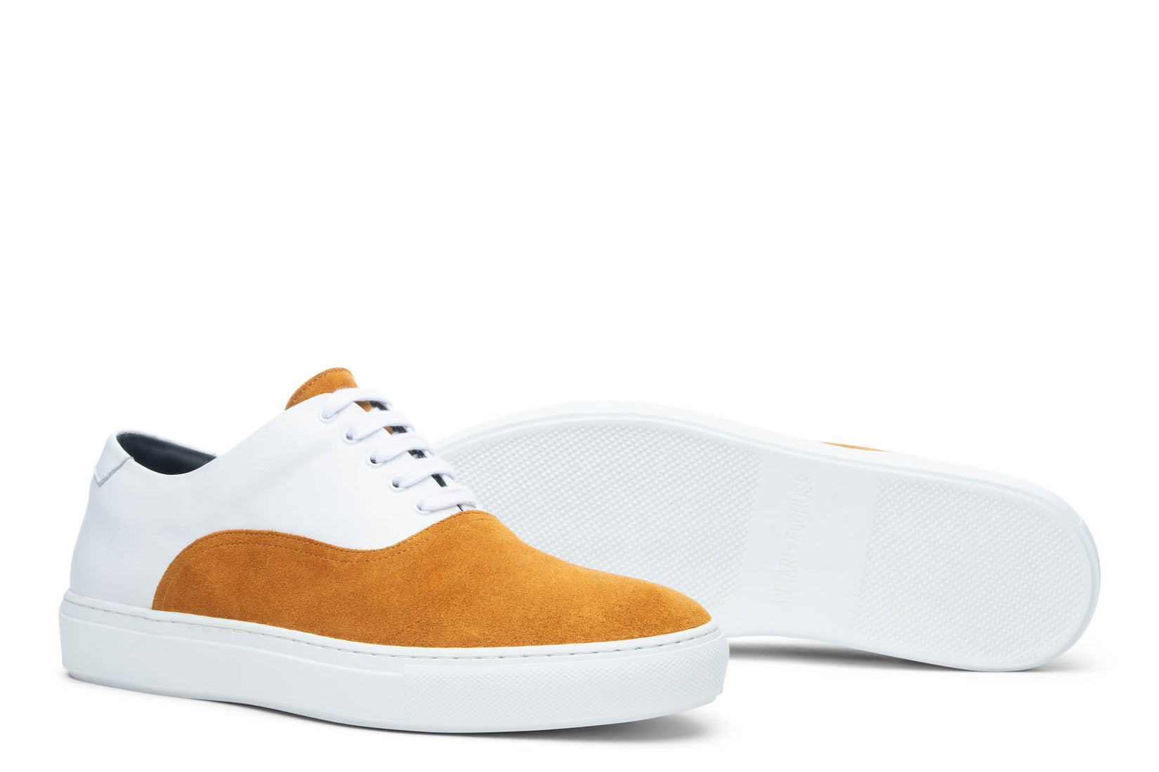 Sunday Two-Tone Skater Sneaker in White/Marigold (FINAL SALE)