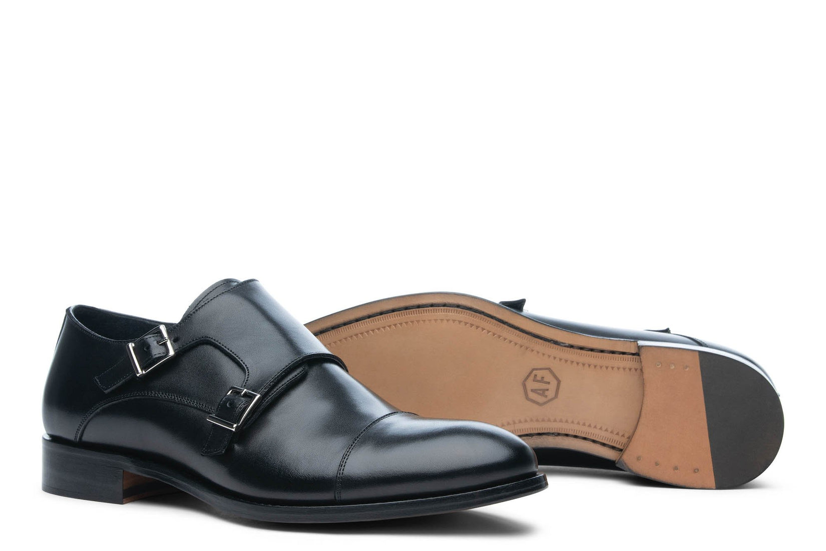 Thursday Double Monkstrap in Black