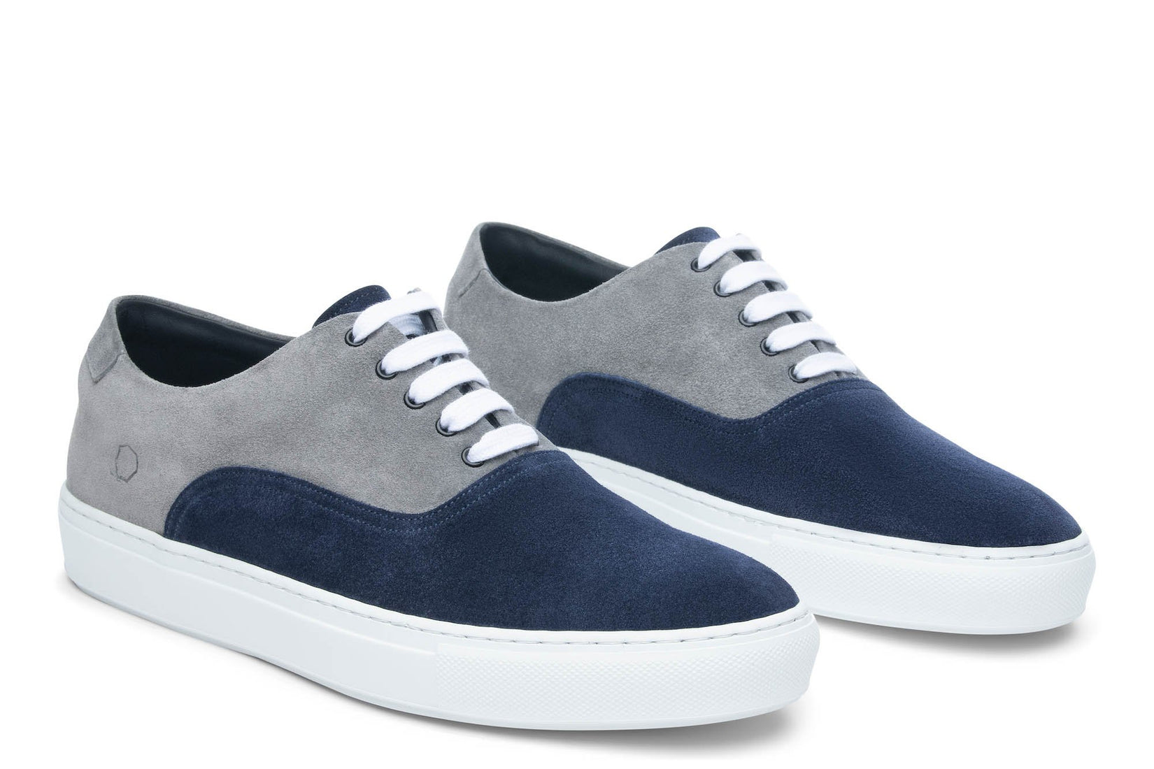Sunday Two-Tone Skater Sneaker in Navy/Grey