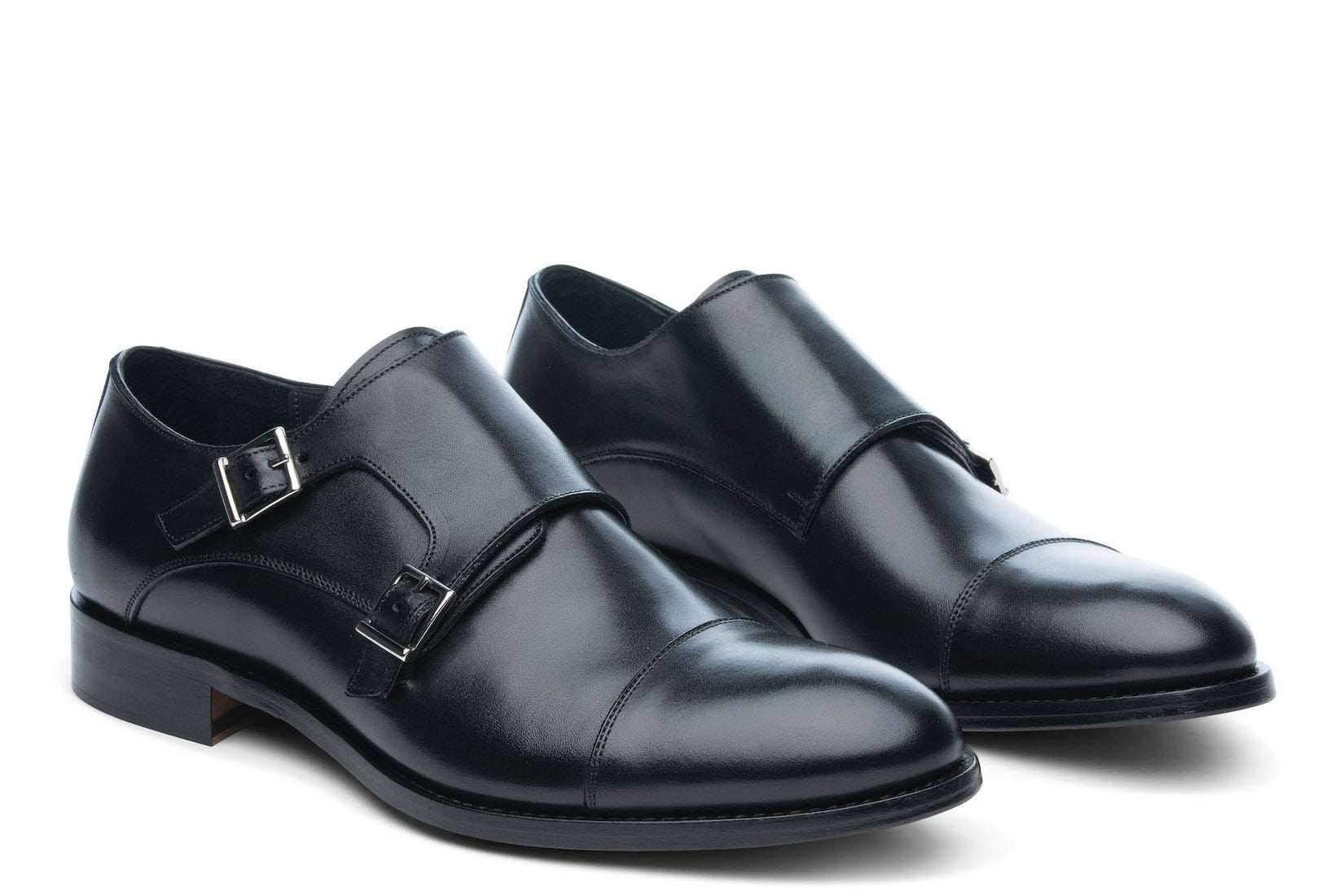 Thursday Double Monkstrap in Black (FINAL SALE)