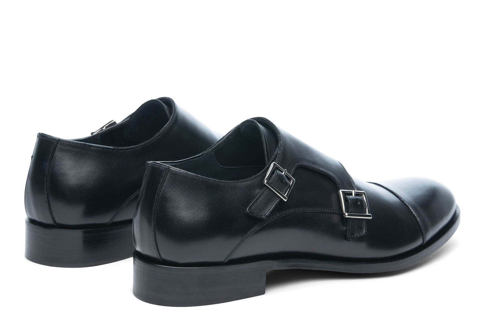 Thursday Double Monkstrap Black