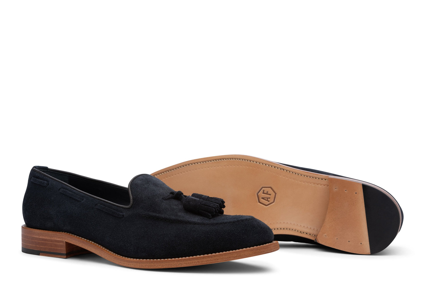 Thursday Tassel loafer in Navy