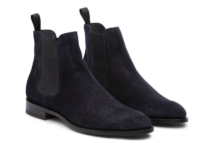 Wednesday Chelsea Boot Navy Suede