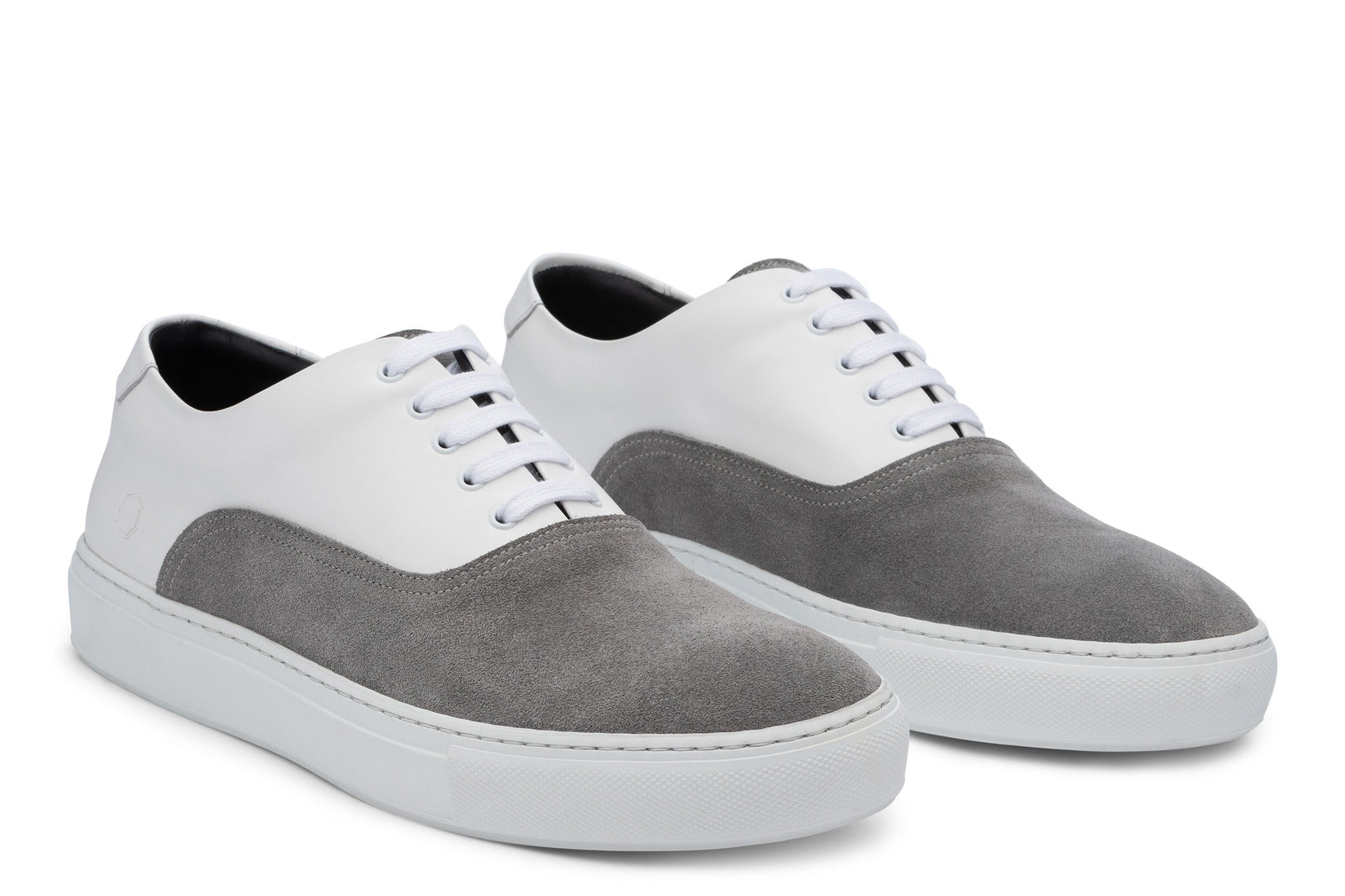 Sunday Two-Tone Skater Sneaker in White/Grey