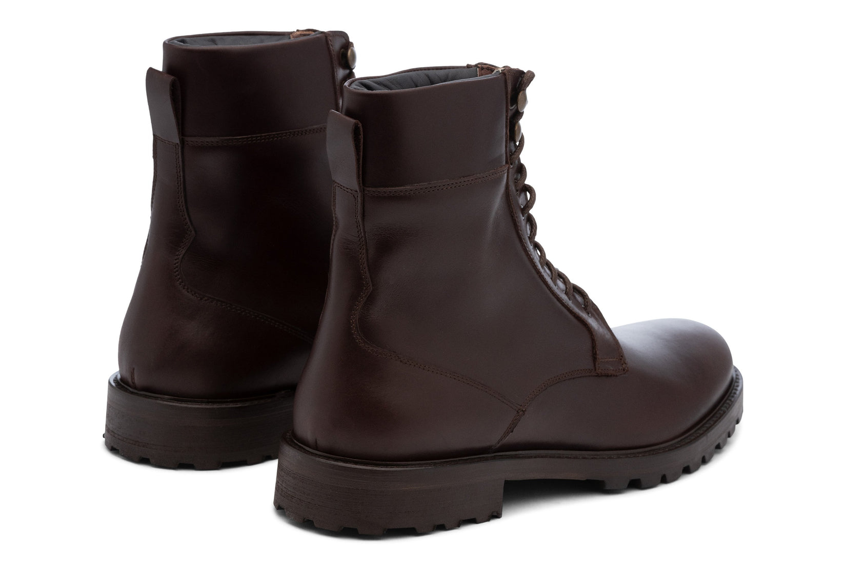 Combat Boot in Dark Brown