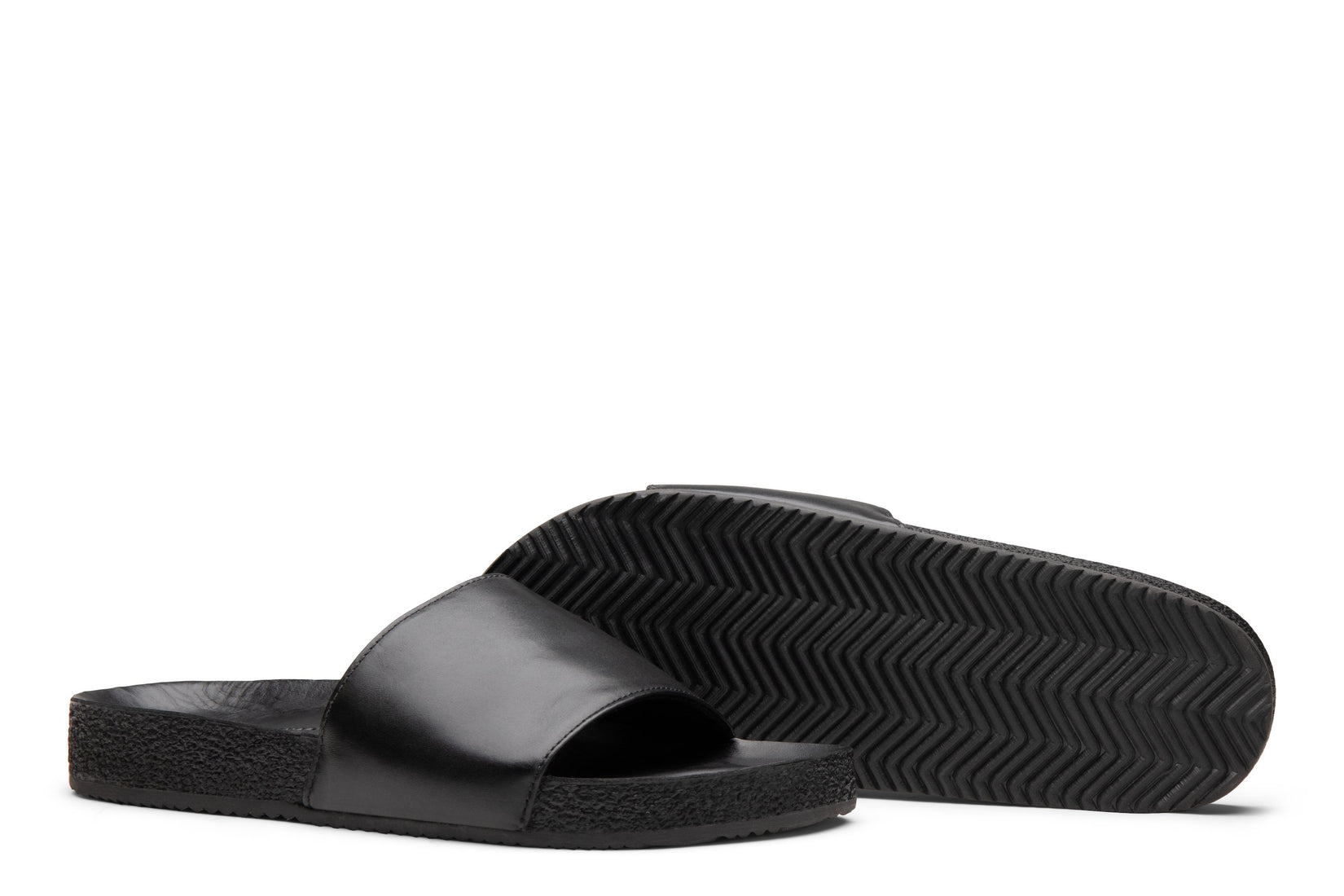 Slide Sandal in Black
