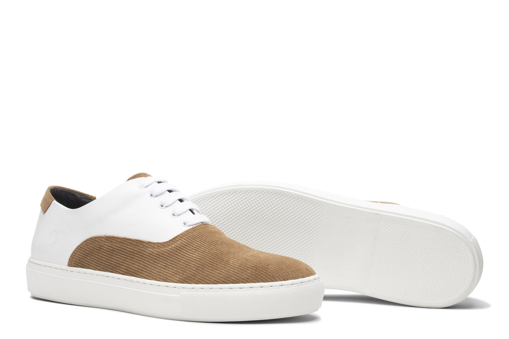 Sunday Two-Tone Skater Sneaker White/Caramel
