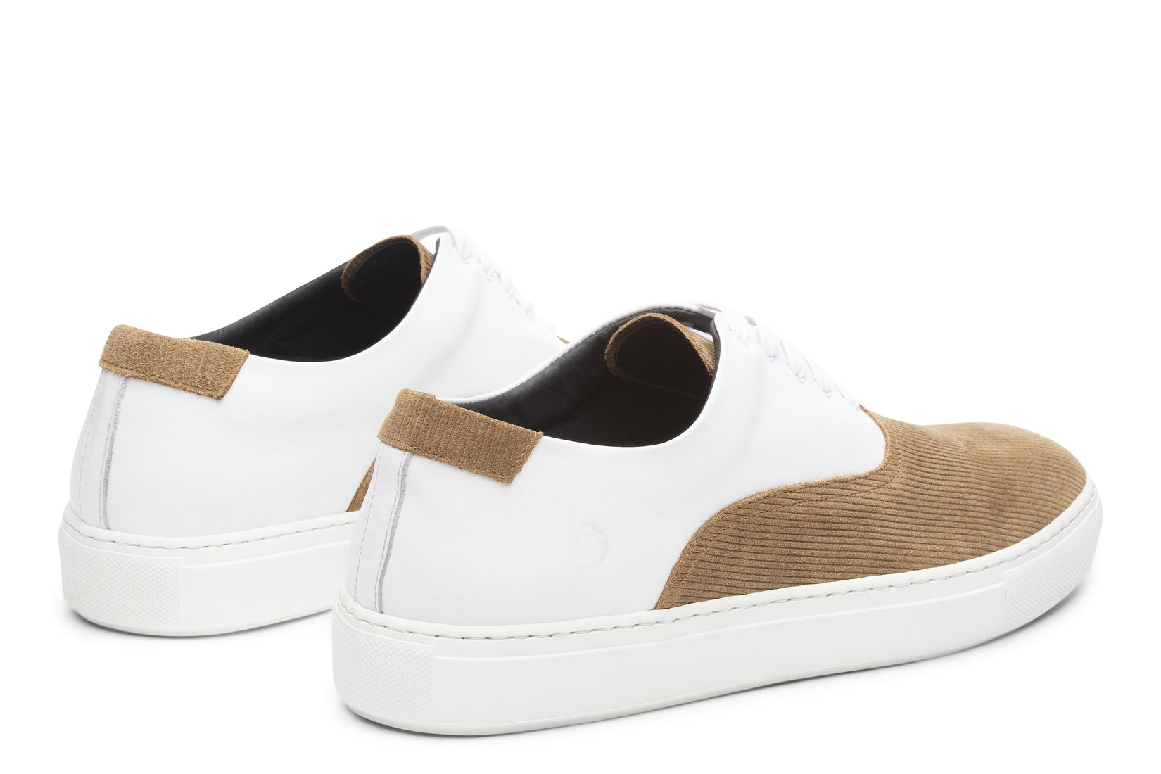 Sunday Two-Tone Skater Sneaker in White/Caramel