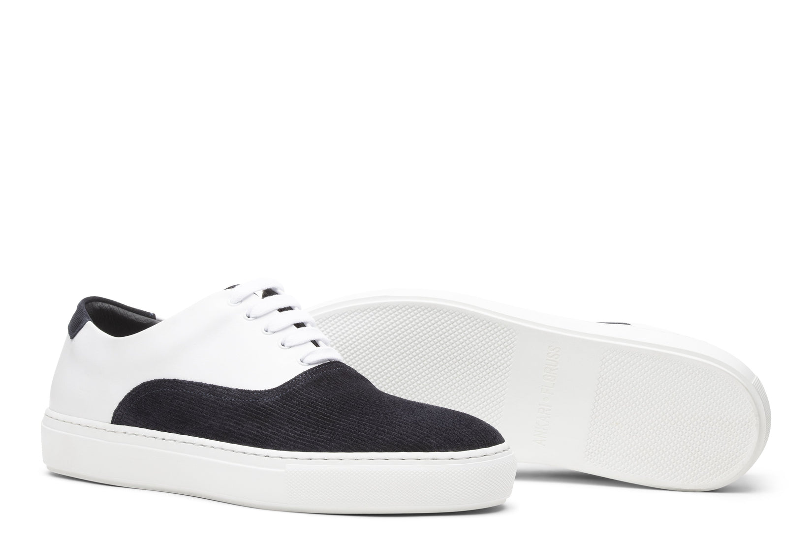 Sunday Two-Tone Skater Sneaker in White/Indigo