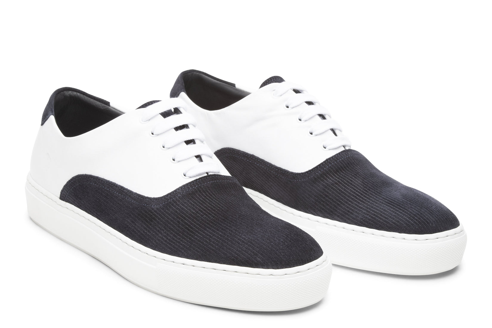 Sunday Two-Tone Skater Sneaker in White/Indigo (FINAL SALE)