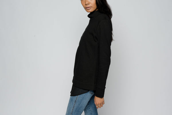 Mock Neck Layered Top