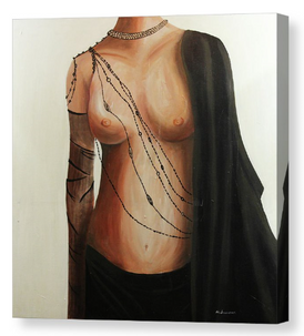Lady JP. Artist Original Canvas Print - Neil Assenheimer