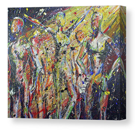 People. Artist Original Acrylic on Canvas Print - Neil Assenheimer