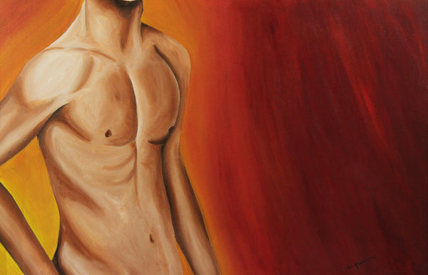 Male Torso Artist Original Canvas Print Abstract Art