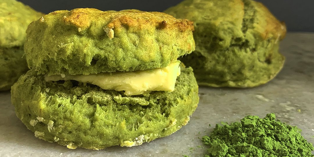 Matcha and Banana Scones