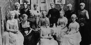 PekoeTea Edinburgh Portrait of a group of ladies at a tea party Charters Towers