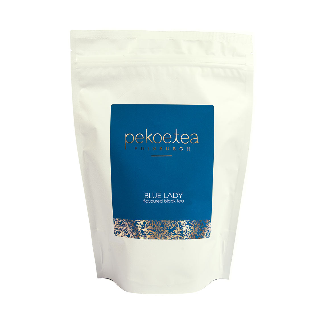 PekoeTea Edinburgh Blue Lady Flavoured Black Tea 250g Re-sealable Pouch