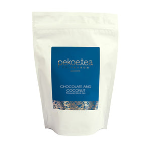 PekoeTea Edinburgh Chocolate and Coconut Flavoured Black Tea 250g Re-sealable Pouch