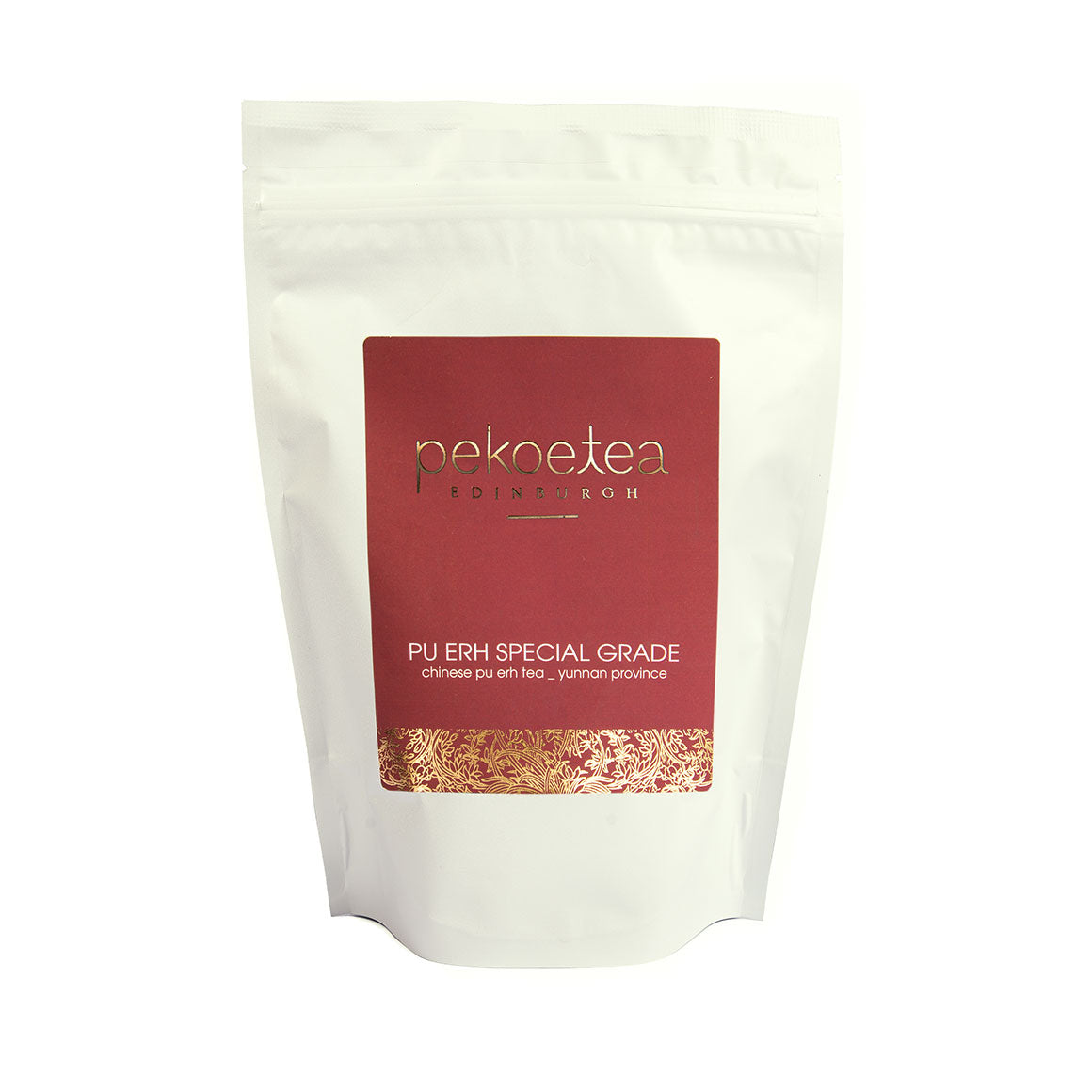 PekoeTea Edinburgh Cooked Pu Erh Tea Special Grade 250g Re-sealable Pouch