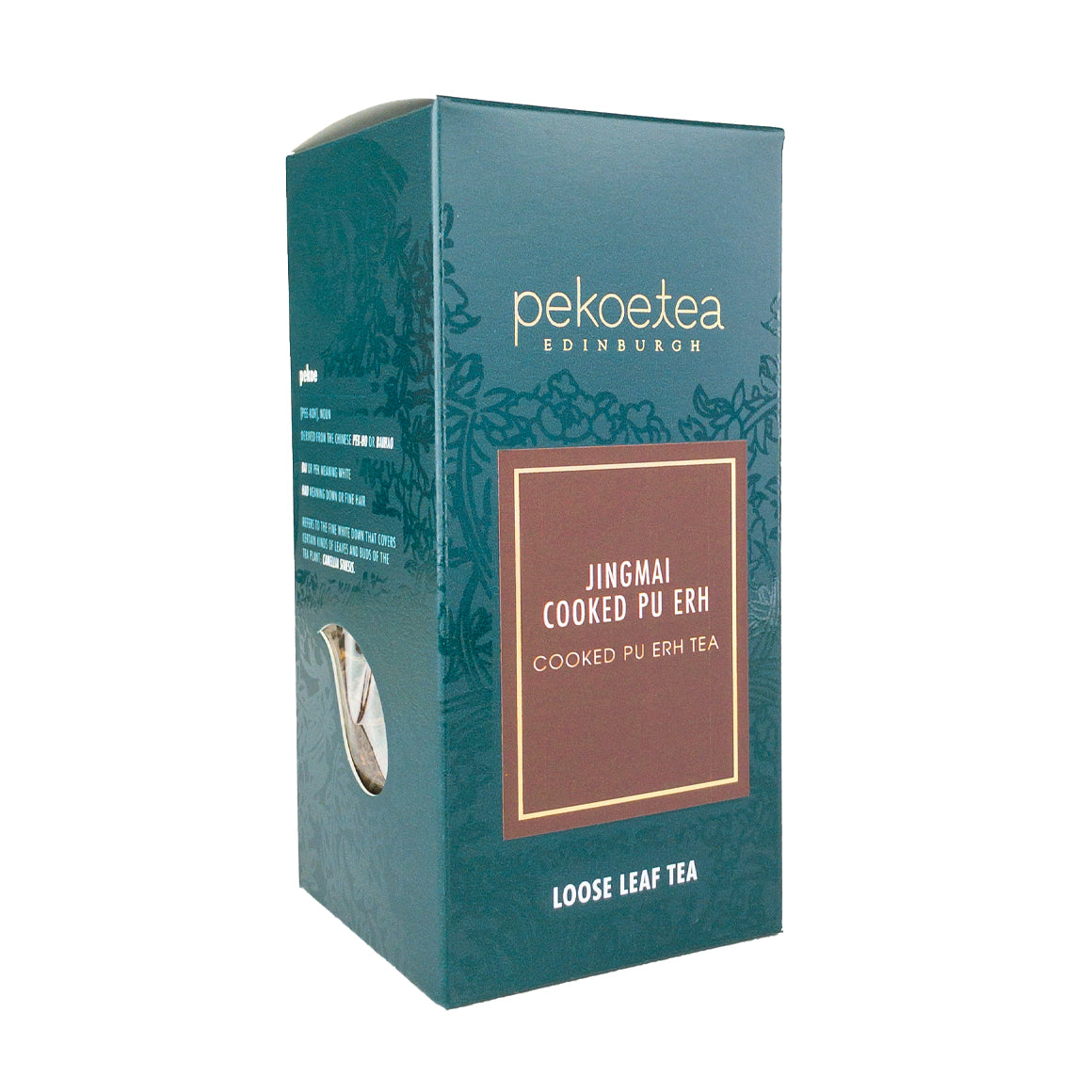 PekoeTea Edinburgh Jingmai Cooked Pu Erh Chinese Cooked Pu Erh Tea Loose Leaf Box