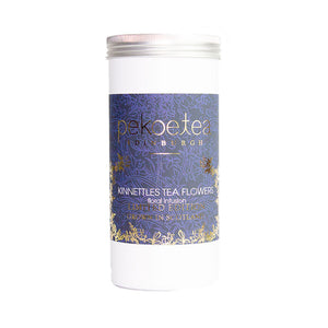 PekoeTea Edinburgh Kinnnettles Tea Flowers Scottish Grown Tea Caddy