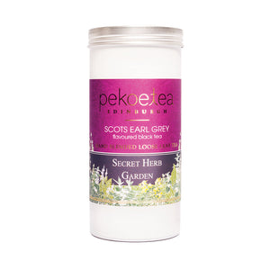 PekoeTea Edinburgh Secret Herb Garden Scots Earl Grey Flavoured Black Tea Caddy