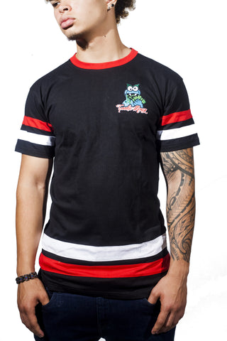 Color Block T-Shirt (Black/Red/White)