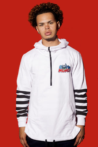 Striped Hoodie (White)