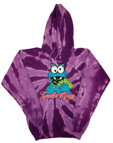 Tie-Dye Pullover Hooded Sweatshirt (Purple)