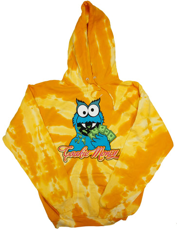 Tie-Dye Pullover Hooded Sweatshirt (Gold)