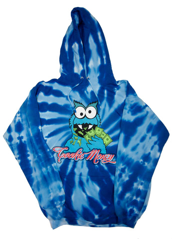 Tie-Dye Pullover Hooded Sweatshirt (Royal)