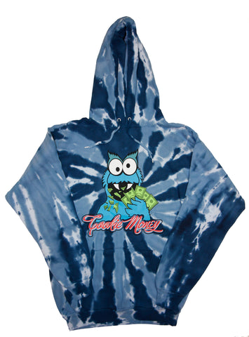 Tie-Dye Pullover Hooded Sweatshirt (Navy)