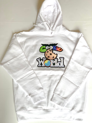 White Cookie World Hoodie