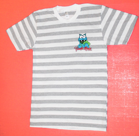 CM Crewneck T-Shirt (Heather Grey/White Stripe)