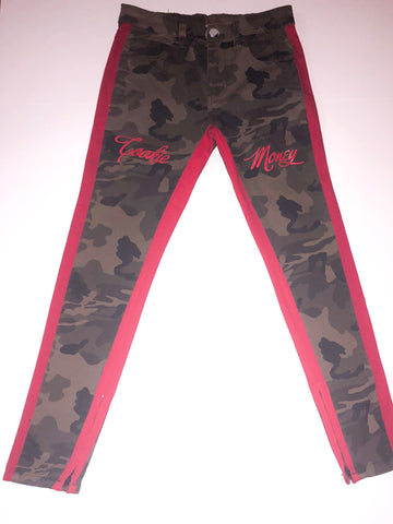 Cookie Money Army Pants (red stripe)
